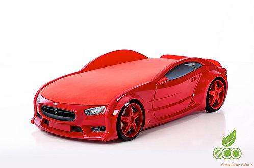 Кровать-машина ТЕСЛА серия NEO (цвет Красный)