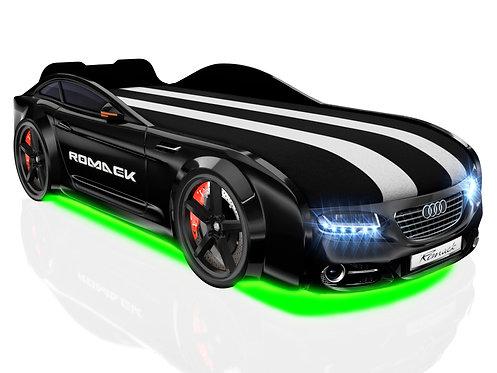 Romack кровать-машина Real-М Ауди (цвет черный)