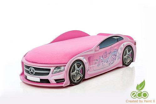 Кровать-машина Мерседес серия UNO (цвет розовая)