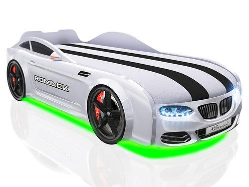 Romack кровать-машина Real-М БМВ (цвет белый)