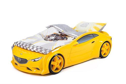 Комплект постельного белья для кровати-машины ЖЕЛТЫЙ