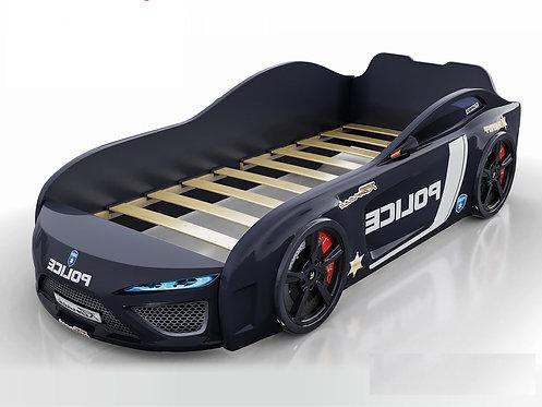 кровать-машина Romack Dreamer полиция черная