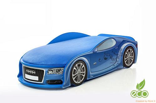 Кровать-машина Ауди-А6 серия UNO (цвет синий)
