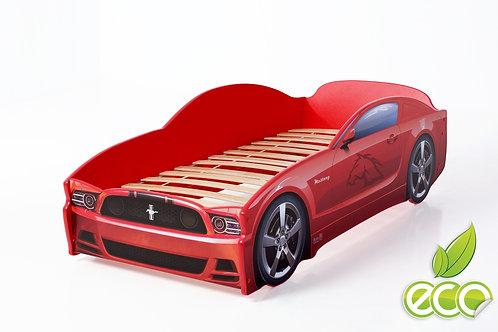 Кровать-машина Мустанг LIGHT МебеЛев (цвет Красный)