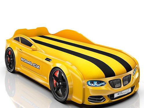 Romack кровать-машина Real-М БМВ (цвет желтый)