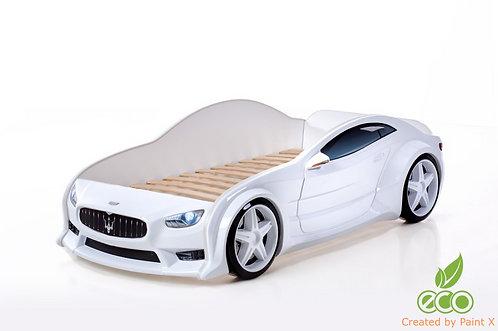 Кровать-машина Мазератти EVO МебеЛев (цвет Белый)