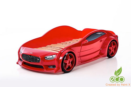 Кровать-машина БМВ EVO МебеЛев (цвет Красный)