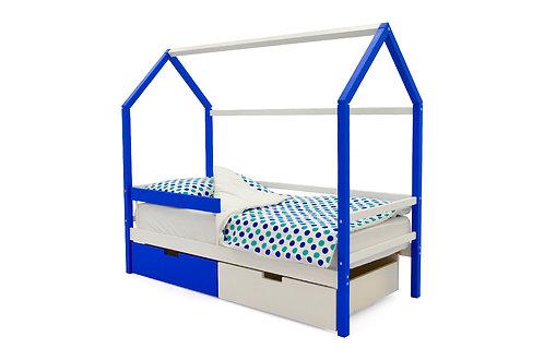 """Детская кровать-домик Бельмарко """"Svogen сине-белый"""" (00692)"""