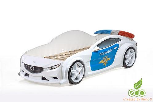 Кровать-машина Мазда EVO МебеЛев (цвет Полиция)