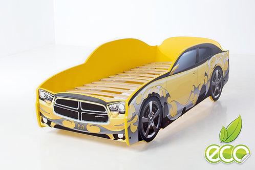 Кровать-машина ДОДЖ LIGHT МебеЛев (цвет Желтый)