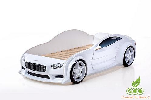 Кровать-машина БМВ EVO МебеЛев (цвет Белый)