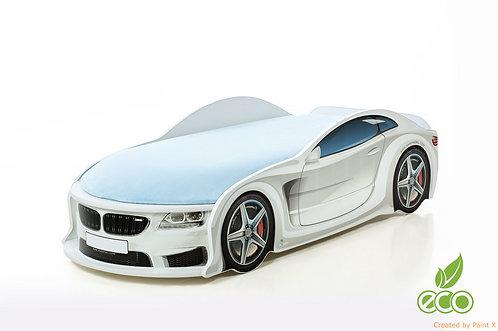 Кровать-машина БМВ серия UNO (цвет белый)