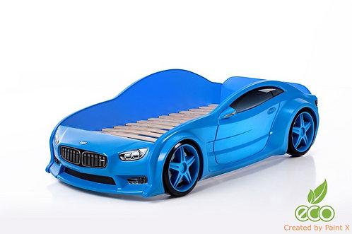 Кровать-машина БМВ EVO МебеЛев (цвет Синий)