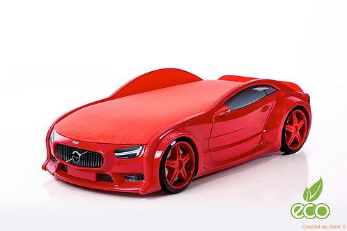 Кровать-машина ВОЛЬВО серия NEO (цвет Красный)