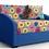 Thumbnail: Ф-ка Мирлачева недорогой диван в детскую Даня (принт пуговки бирюза)