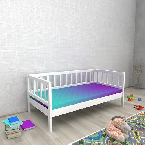 Детская кровать Ницца (кровать-домик без крыши) БЕЗ БОРТИКА Цвет: БЕЛЫЙ
