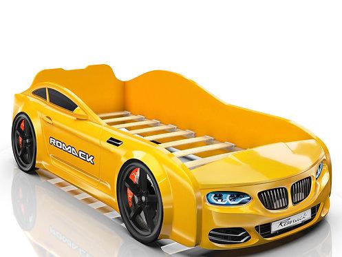 Romack кровать-машина Real БМВ (цвет желтый)