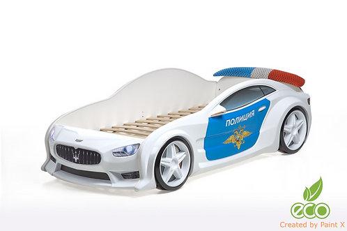Кровать-машина Мазератти EVO МебеЛев (цвет Полиция)