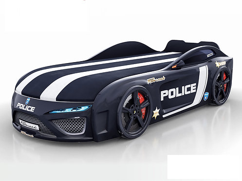 кровать-машина Romack Dreamer-M полиция (цвет черный)