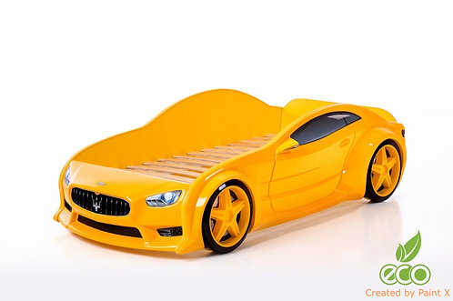 Кровать-машина Мазератти EVO МебеЛев (цвет Желтый)