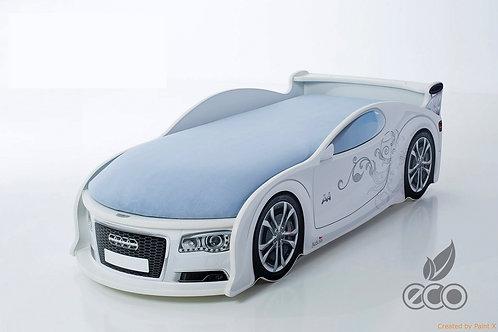 Кровать-машина Ауди А4 серия UNO (цвет Белый)