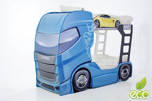 Кровать-машина Грузовик СКАНИЯ +2 DUO МебеЛев (цвет Синий)