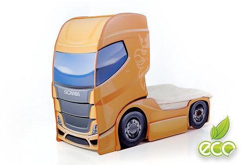Кровать-машина Грузовик СКАНИЯ +1 DUO МебеЛев (цвет Манго)