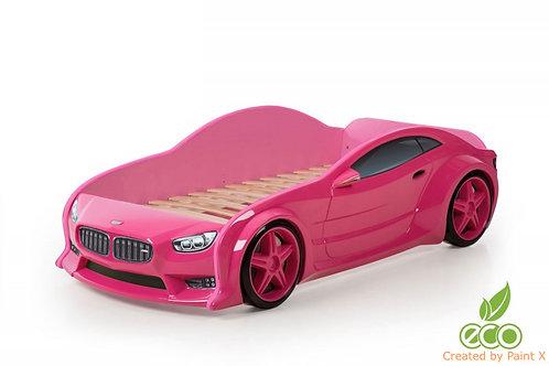 Кровать-машина БМВ EVO МебеЛев (цвет Розовый)