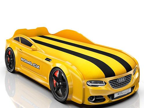 Romack кровать-машина Real-М Ауди (цвет желтый)