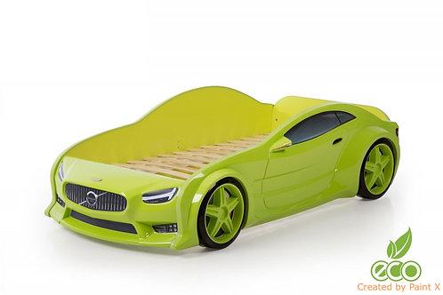 Кровать-машина Вольво EVO МебеЛев (цвет Зеленый)