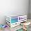 Thumbnail: Детская кровать Ницца (кровать-домик без крыши) С БОРТИКОМ Цвет: БЕЛЫЙ