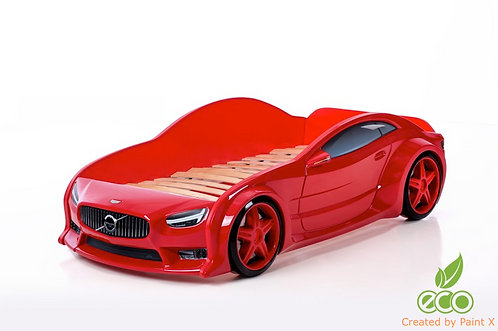 Кровать-машина Вольво EVO МебеЛев (цвет Красный)
