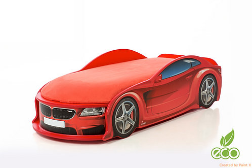 Кровать-машина БМВ серия UNO (цвет красный)