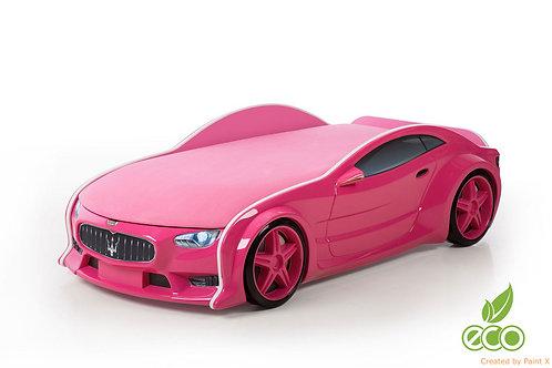 Кровать-машина МАЗЕРАТИ серия NEO (цвет Розовый)