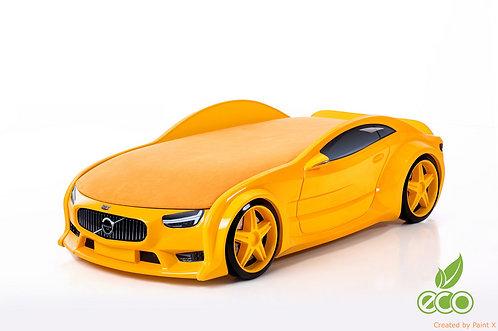 Кровать-машина ВОЛЬВО серия NEO (цвет Желтый)