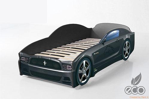 Кровать-машина Мустанг LIGHT МебеЛев (цвет Черный)