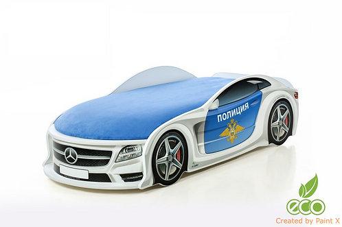 Кровать-машина Мерседес серия UNO (цвет полиция)