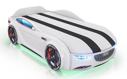 Кровать-машина Romack Junior Ауди (белый)