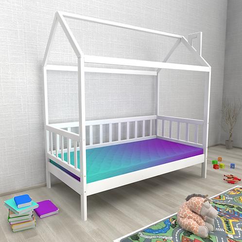 Кровать ДОМИК НИЦЦА (без бортика) Цвет:БЕЛЫЙ