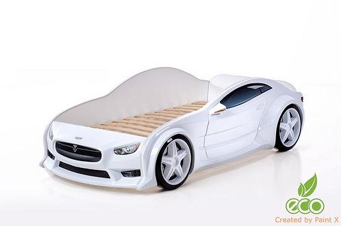 Кровать-машина Тесла EVO МебеЛев (цвет Белый)