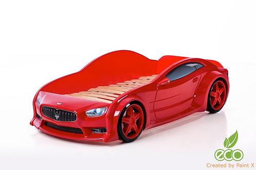 Кровать-машина Мазератти EVO МебеЛев (цвет Красный)