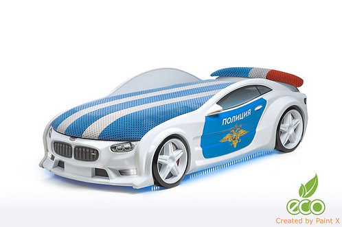 Кровать-машина БМВ серия NEO (цвет Полиция)
