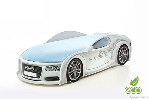 Кровать-машина Ауди-А6 серия UNO (цвет белый)