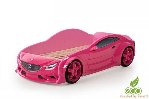 Кровать-машина Мазда EVO МебеЛев (цвет Розовый)