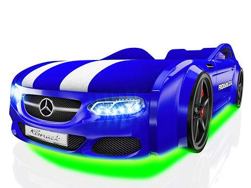 Romack кровать-машина Real-М Мерседес (цвет синий)