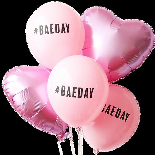 #BAEDAY BALLOON & HEART BOUQUET