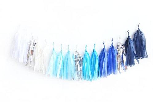 TASSEL GARLAND - Blue Ombre