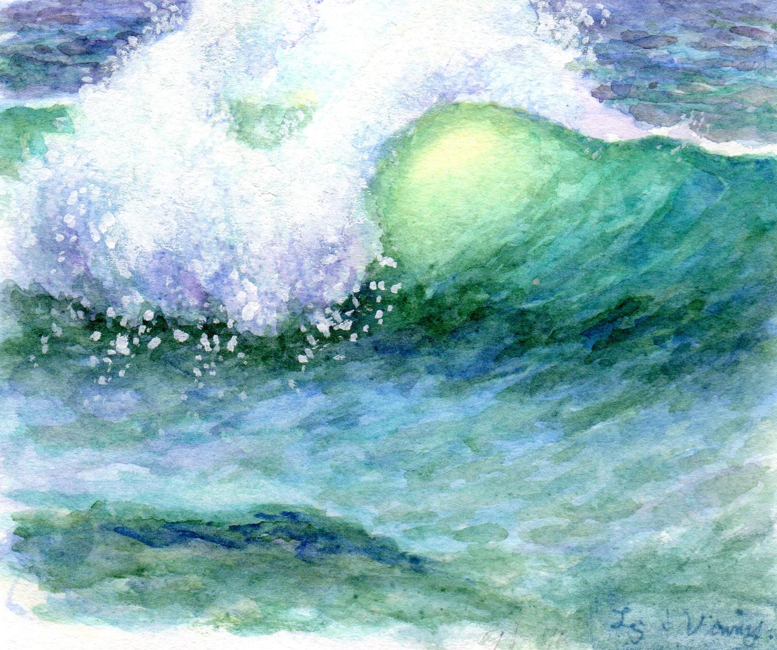 Ocean Wave by Elizabeth Oertel