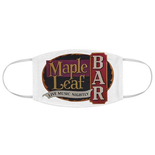 Maple Leaf Bar Live Music Nightly Fabric Face Mask