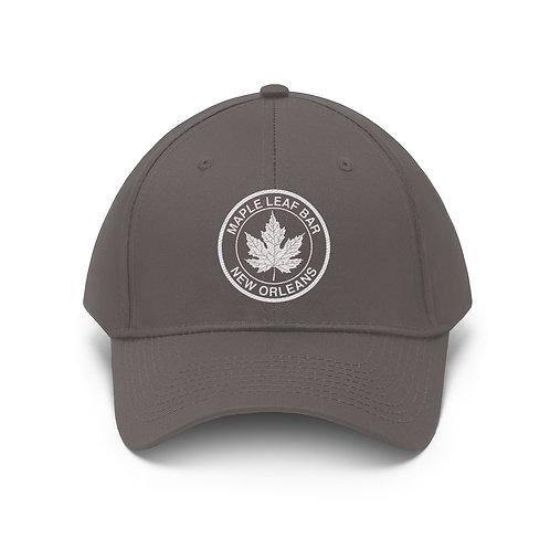 Maple Leaf Bar Embroidered Unisex Twill Hat